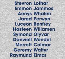 The 22 Trueborn sons of Walder Frey by JenSnow