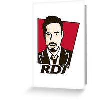 Robert Downey Jr. - KFC Logo Greeting Card