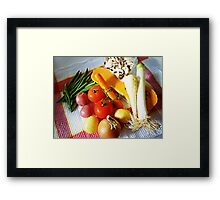 Soup here we come. Framed Print