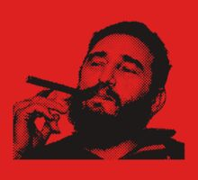 Young Fidel Castro Smoking Cigar by ibadishi