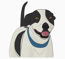 Cute Smiling Dog Line Art Kids Clothes
