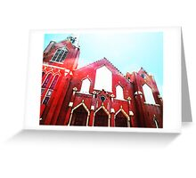 The Red Church By Sharon Cummings Greeting Card
