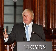 Boris Johnson at Lloyd's Of London by Keith Larby