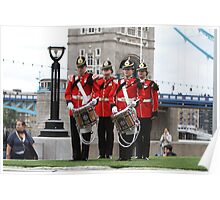 The Royal Anglian Band playing at City Hall Poster