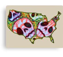 Skull Map USA Canvas Print