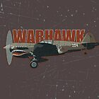 Vintage Look Curtis P-40 Warhawk Fighter Bomber Plane by VintageSpirit