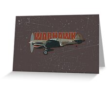 Vintage Look Curtis P-40 Warhawk Fighter Bomber Plane Greeting Card