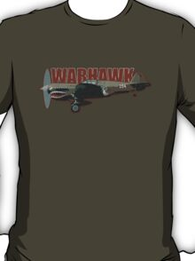 Vintage Look Curtis P-40 Warhawk Fighter Bomber Plane T-Shirt