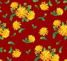 Autumn Chrysanthemums by rusanovska