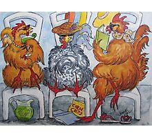 Fowl Play Series: Poolside Chicks Photographic Print