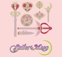 Sailor Moon Accessories w/logo by midnitekitten
