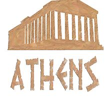 Parthenon in Athens of Greece by nadil