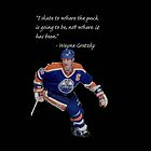Wayne Gretzky quote iPhone case by flaaaash