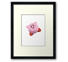 Minimalist Kirby from Super Smash Bros. Brawl Framed Print