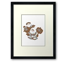 Minimalist Ice Climbers from Super Smash Bros. Brawl Framed Print