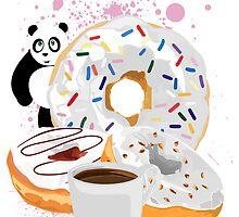 Panda & White Donuts by Adamzworld