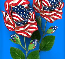 ✰* ★UNITED STATES PATRIOTIC ROSE PICTURE /CARD✰* ★ by ╰⊰✿ℒᵒᶹᵉ Bonita✿⊱╮ Lalonde✿⊱╮