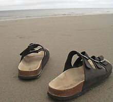 Sandals on the Beach by MoniqueFlynn