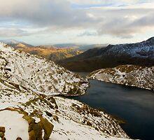 Snowy Welsh Landscape by mrjimmyd