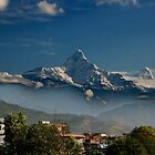 Fishtail Mountain by sajal maskey