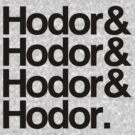 Hodor Helvetica by digital-phx