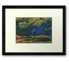 Spain - La Mancha de Noche Framed Print