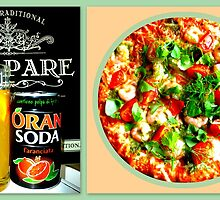 Pizza Scampi & Aranciata by ©The Creative  Minds