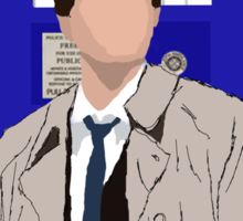 The Angel Castiel Has The Box (Black Text) Sticker