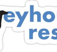 Greyhound Rescue Logo Sticker