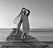 Mrs Wilson,Alcudia Jetty,Majorca by Jim Wilson