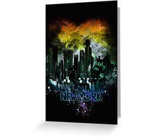 stormy city - New - York Greeting Card