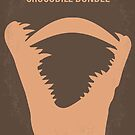 No210 My Crocodile Dundee minimal movie poster by Chungkong
