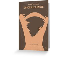 No210 My Crocodile Dundee minimal movie poster Greeting Card