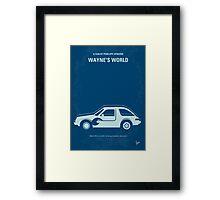 No211 My Waynes World minimal movie poster Framed Print