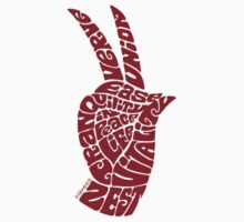 Life Force Hand in Warm Red, Small Version by aygeartist