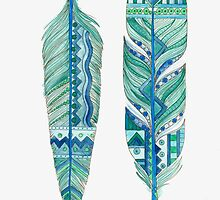 Blue Feathers Native Style by ChubbyMermaid
