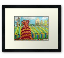 385 - MAO IN RED AND YELLOW - COLOURED PENCILS - 2013 Framed Print