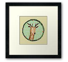 Deer Portrait Framed Print