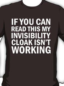 Harry Potter  - Invisibility Cloak Malfunction [Dark Edition] T-Shirt
