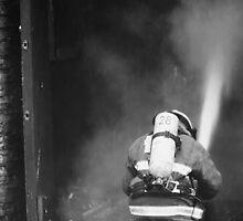 Fireman - British Columbia Canada by Natasha Litia