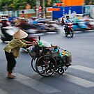 Crossing the road in Vietnam by KerryPurnell