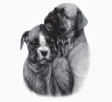 Boxer Puppies by Danguole Serstinskaja