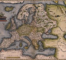 Europe Map 1572 by VintageLevel