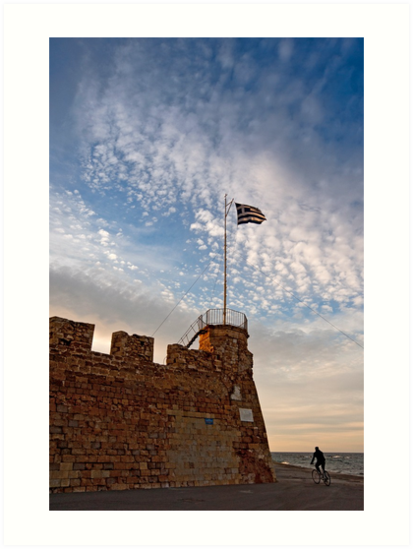 Harbour fortifications in Chania, Crete by Konstantinos Arvanitopoulos