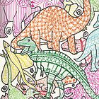 Patterned Dinosaurs by Zoe Swann