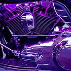 Purple Motorcycle Engine by Cathy Donohoue