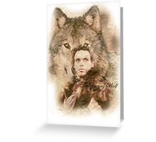 The Young Wolf Greeting Card