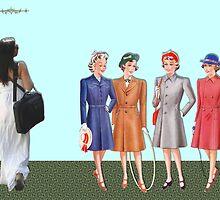 Teenage fashion 1940s. by albutross