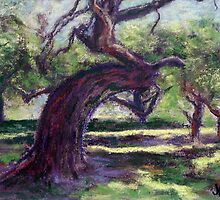 Bowing Oak (pastel) by Niki Hilsabeck
