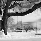 Snow Covered Swings by Mark Van Scyoc